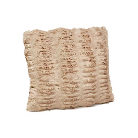 """Couture Faux Fur Pillow // Sandy Mink (24""""L x 24""""W)"""