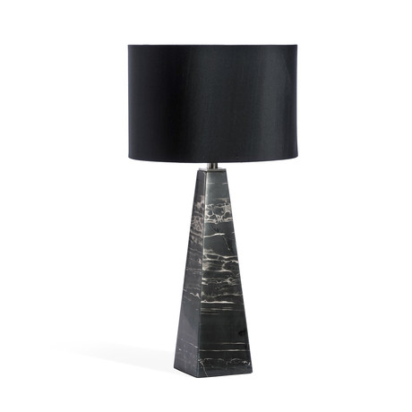 Maddox Lamp (White + Antique Brass)