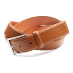 "Genuine Smooth Portofino Lamb Leather Belt // Cognac (32"" Waist)"