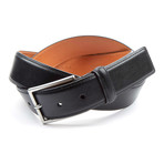 "Genuine Smooth Portofino Lamb Leather Belt // Black (36"" Waist)"