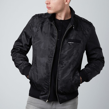 Jacquard Racer jacket // Black