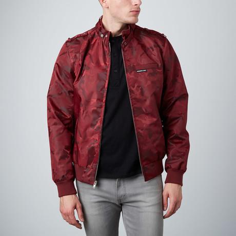 Jacquard Racer jacket // Burgundy