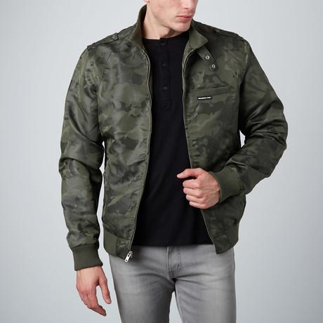 Jacquard Racer jacket // Olive