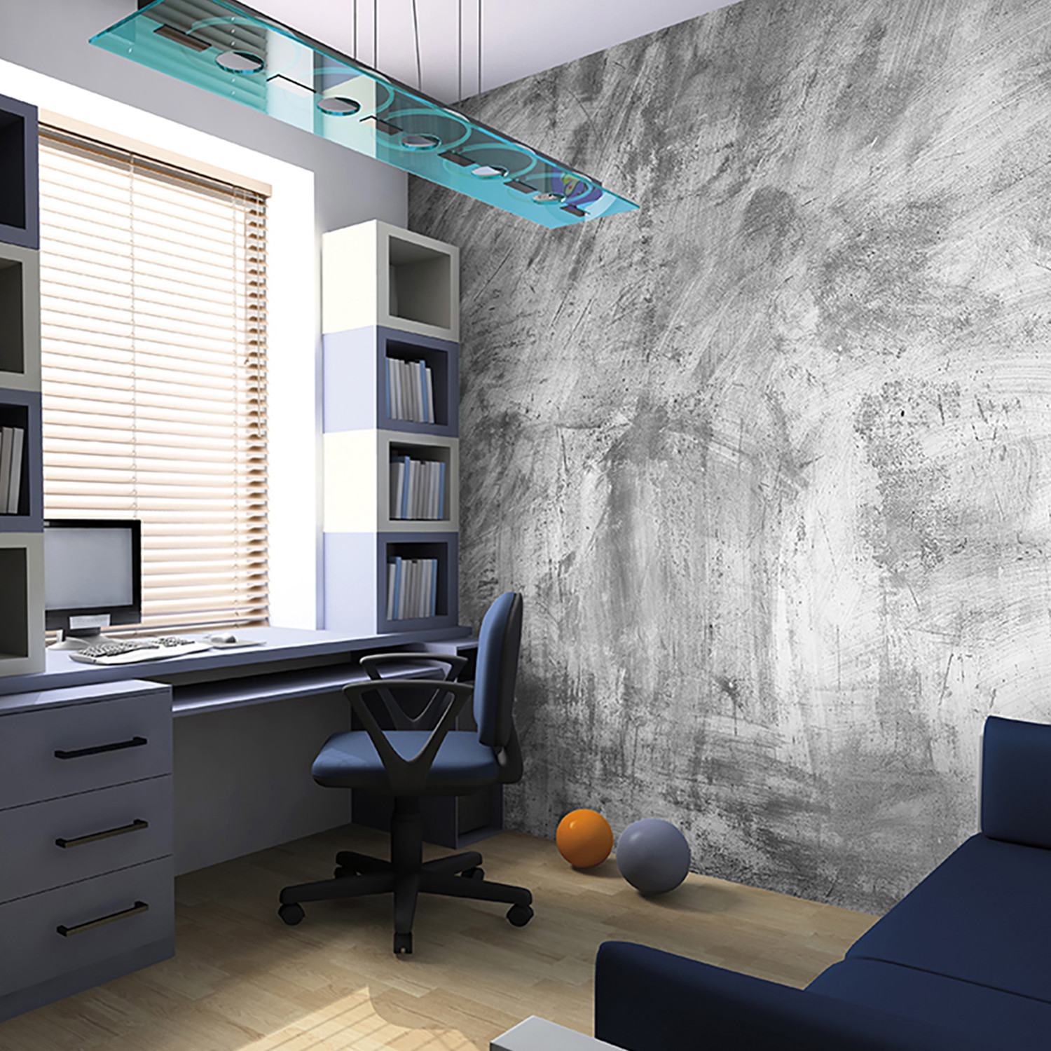 Concrete Wall Mural Brewster Home Fashions Touch of Modern