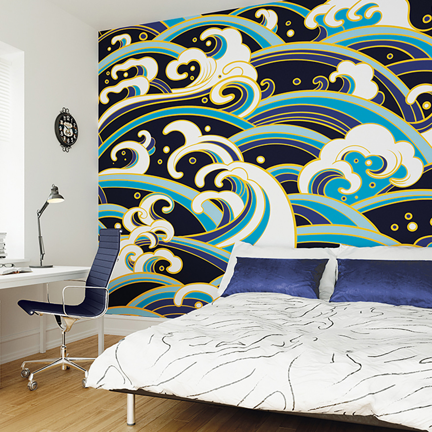 japanese waves wall mural brewster home fashions touch of modern japanese waves wall mural