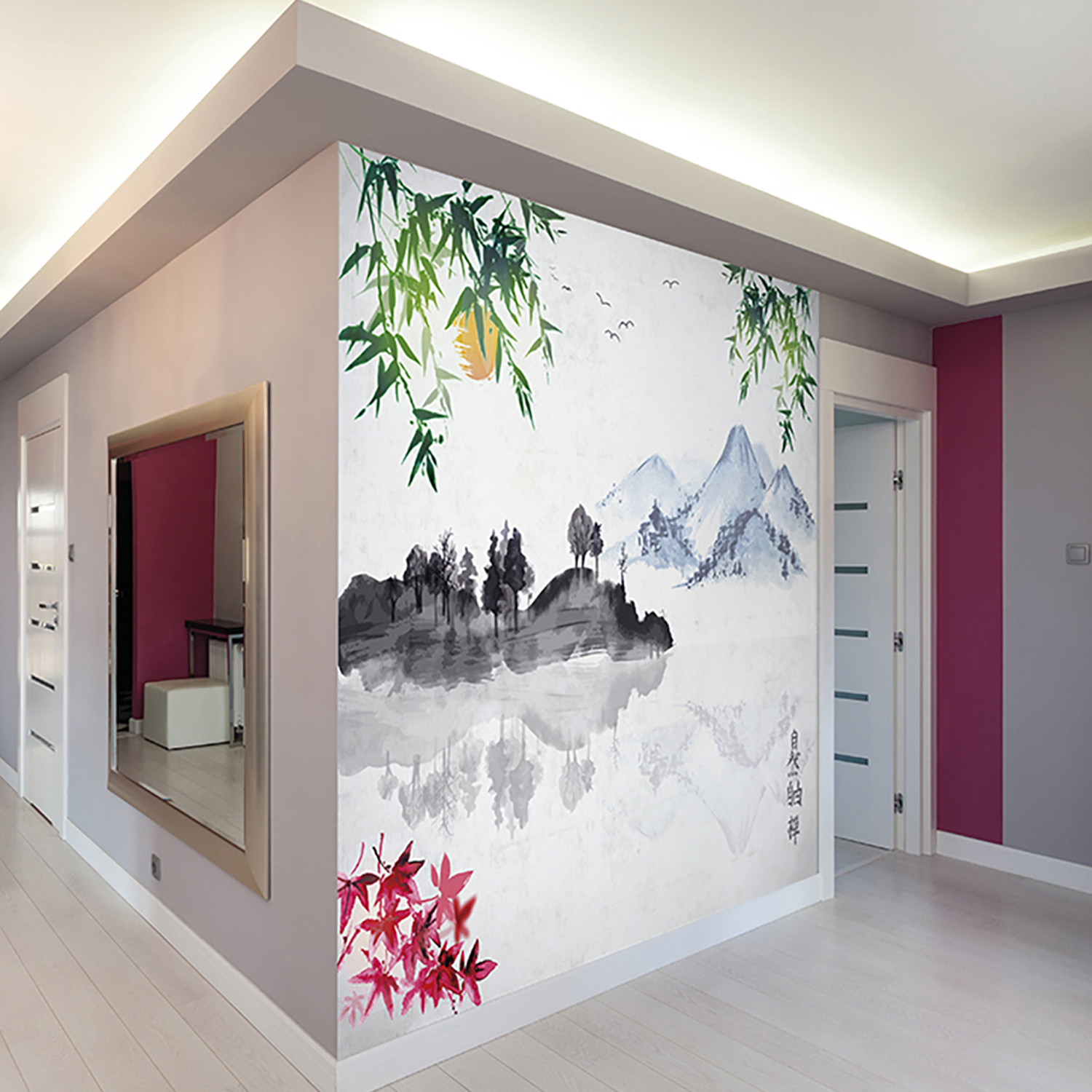 Japanese Lake Wall Mural Brewster Home Fashions Touch of Modern