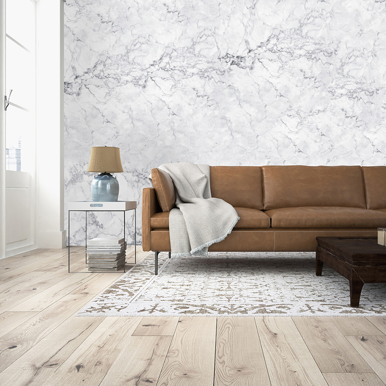 White marble wall mural brewster home fashions touch for 8 sheet giant wall mural