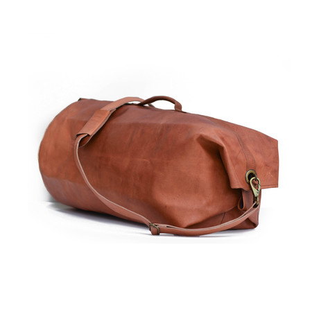 Leather Military Style Duffle