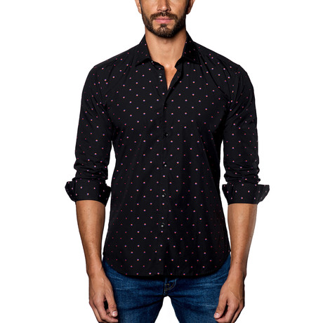 Woven Button-Up // Black