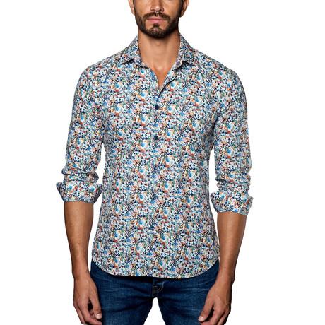 Woven Button-Up // White Multi Print (S)