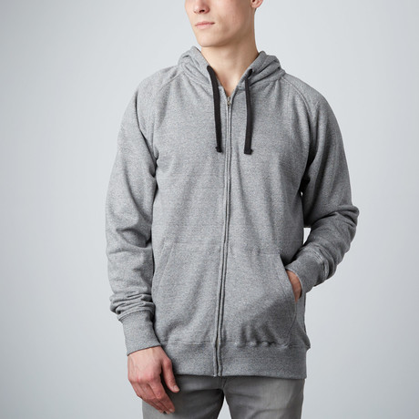 French Terry Zip Hoody // Solid Ash (S)