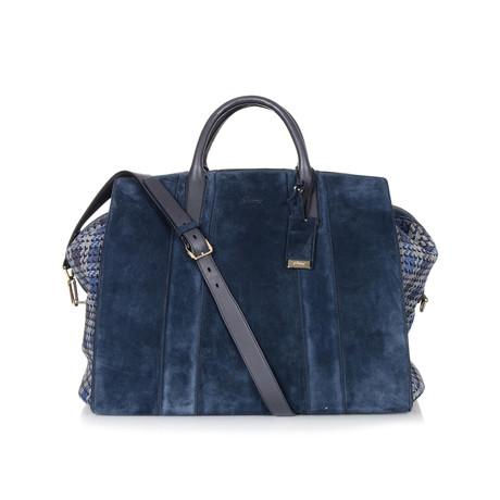 Suede Weekend Travel Bag // Blue