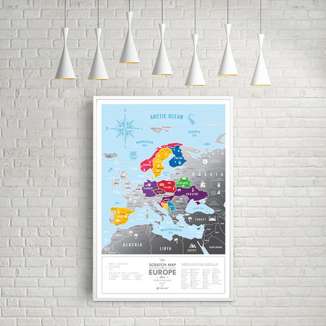 Europe Travel Map // Silver