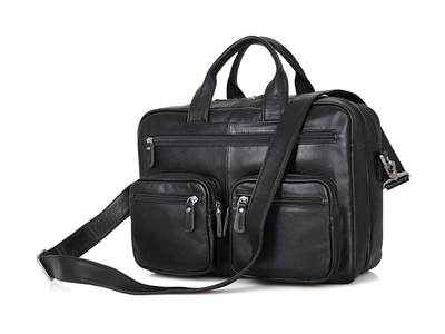 Touch Of Modern - OWNBAG Canvas & Leather Travel Bags Leather Briefcase // OWW-L102 Photo