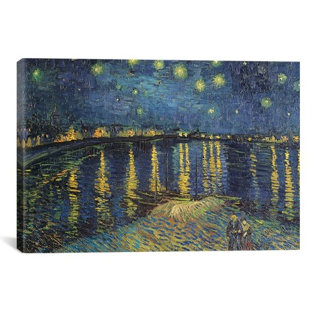 "Starry Night over the Rhone, 1888 // Vincent van Gogh (18""W x 12""H x 0.75""D)"