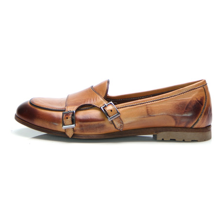 Double Monk Strap Loafer // Tobacco (Euro: 43)