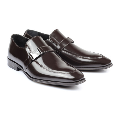 Buckle Strap Slip-On // Brown (Euro: 39)
