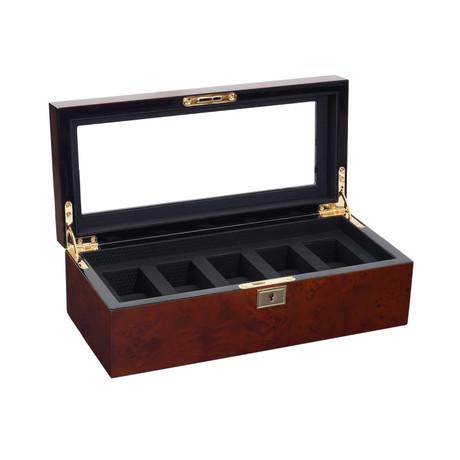 Savoy 5 Piece Watch Box (Burlwood)