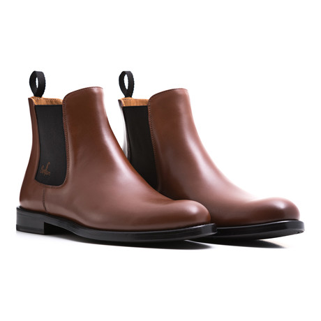 Calf Leather Chelsea Boots // Brown + Black