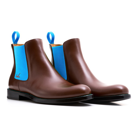 Chelsea Boots Calf Leather // Brown + Blue (Euro: 39)