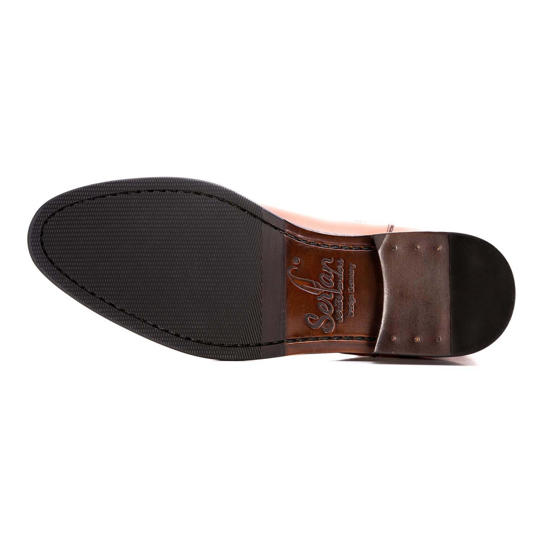 e6d3415bd90ea9 Calf Leather Chelsea Boot    Cognac + Green (Euro  43) - Serfan ...