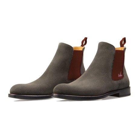 Chelsea Boot Suede // Gray + Brown (Euro: 39)