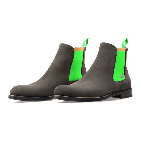 Chelsea Boot Suede // Gray + Green (Euro: 39)