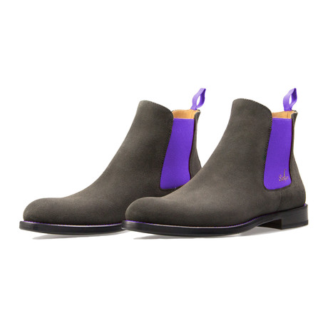 Chelsea Boot Suede // Gray + Purple (Euro: 39)