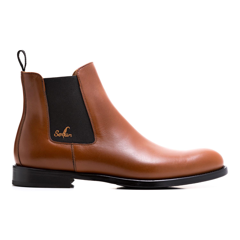calf leather chelsea boot cognac black euro 47. Black Bedroom Furniture Sets. Home Design Ideas