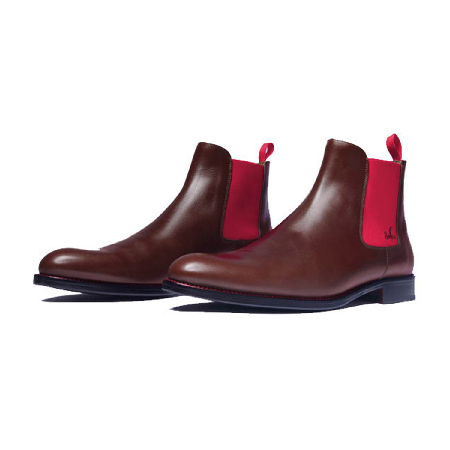 5a91bdbd7d209c Calf Leather Chelsea Boots    Brown + Red (Euro  39) - Serfan ...