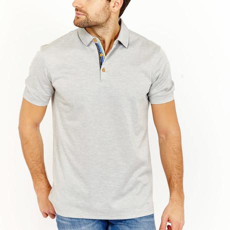 Blanc // Walder Polo Shirt // Heather Grey