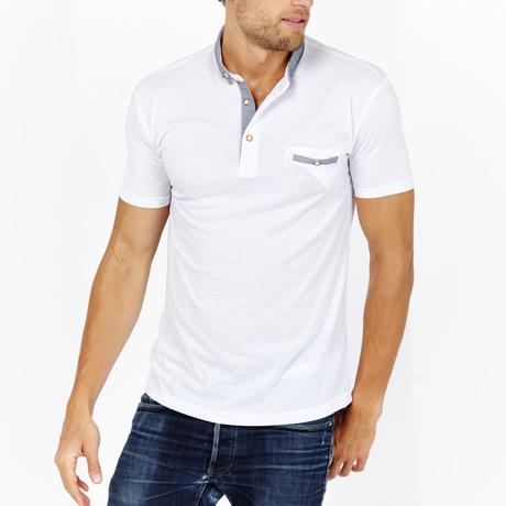 St Lynn // Edgar Polo Shirt // White (S)