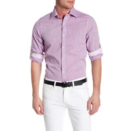 Classic Roll Up Linen Shirt // Lavender
