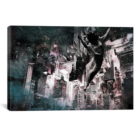 "Angel of Manhattan // 5By5Collective (26""W x 18""H x 0.75""D)"