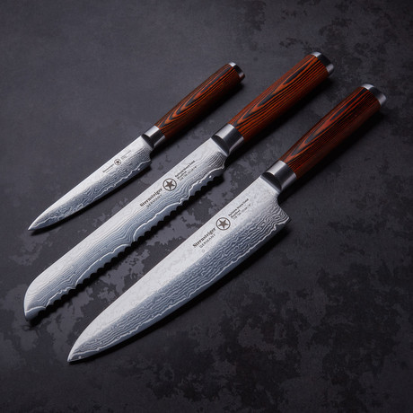 Damascus Knives // Set of 3