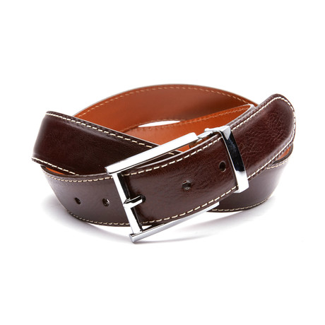 35mm Italian Calf Belt // Chocolate Brown