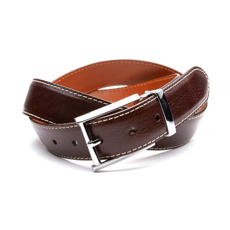 35mm Italian Calf Belt // Chocolate Brown (32)