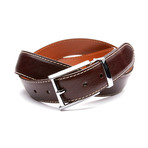 35mm Italian Calf Belt // Chocolate Brown (32)