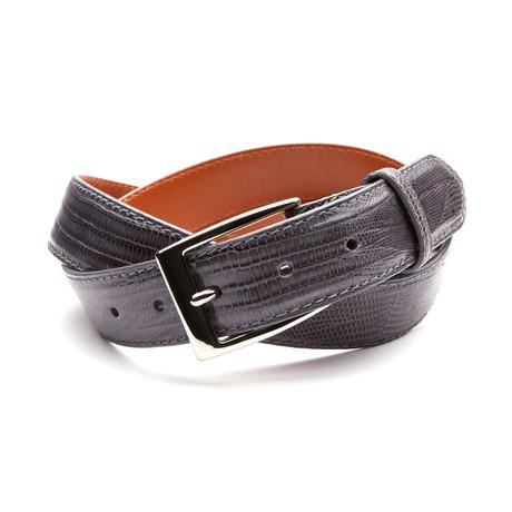 32mm Lizard Belt // Charcoal Gray (32)