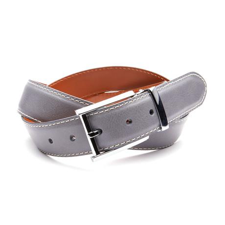 35mm Italian Calf Belt // Heather Grey