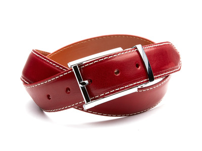 Photo of Andrew Martin Sleek Leather Belts 35mm Italian Calf Belt // Crimson Red (36) by Touch Of Modern