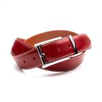 35mm Italian Calf Belt // Crimson Red (32)