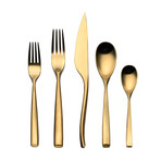 Arte Cutlery // 5 Piece Set (Brushed Gold)