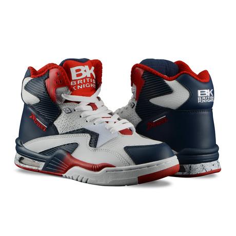 Control Hi Sneaker // White + Deep Indigo + Mars Red