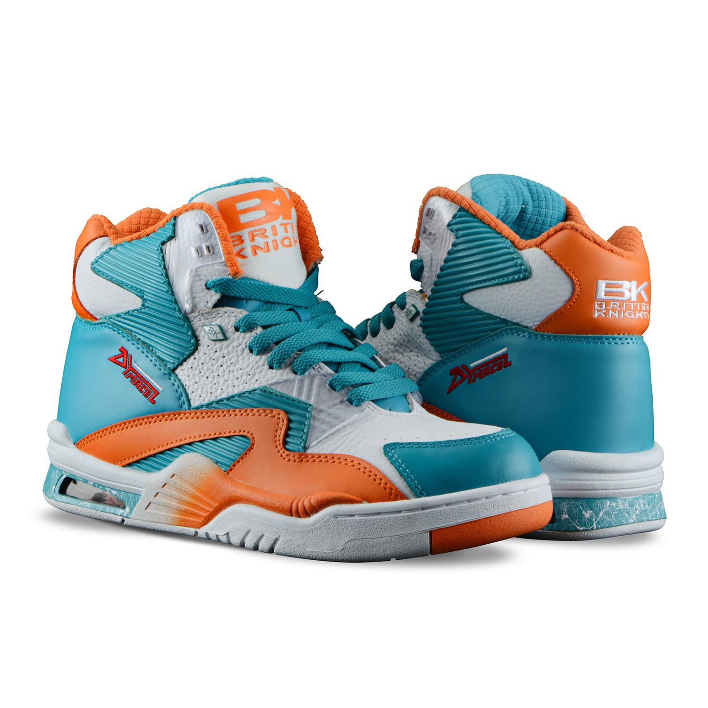 sale retailer a3e62 99fe1 Control Hi Sneaker    White + Sour Blue + S Orange (US  7