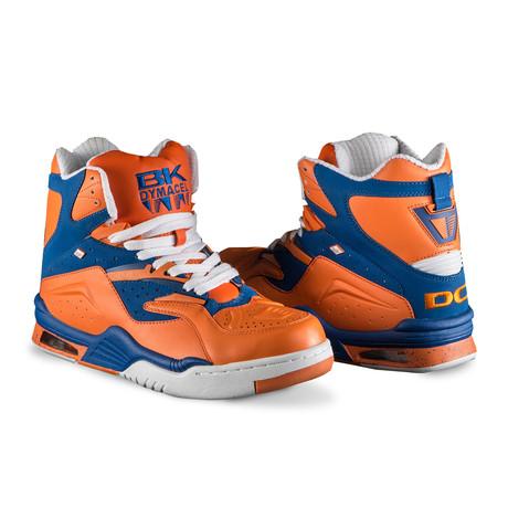 Enforcer Hi Dc Sneaker // Orange + Royal + White