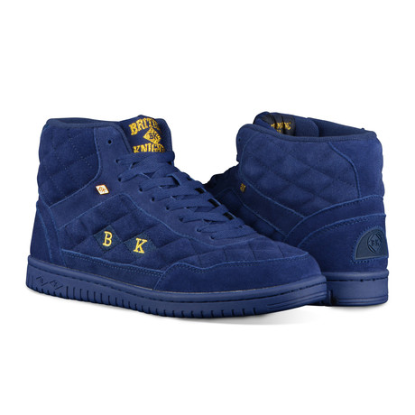 outlet store 3ce8e 47237 Quilts Mid Sneaker    Deep Ocean + Gold (US  8)