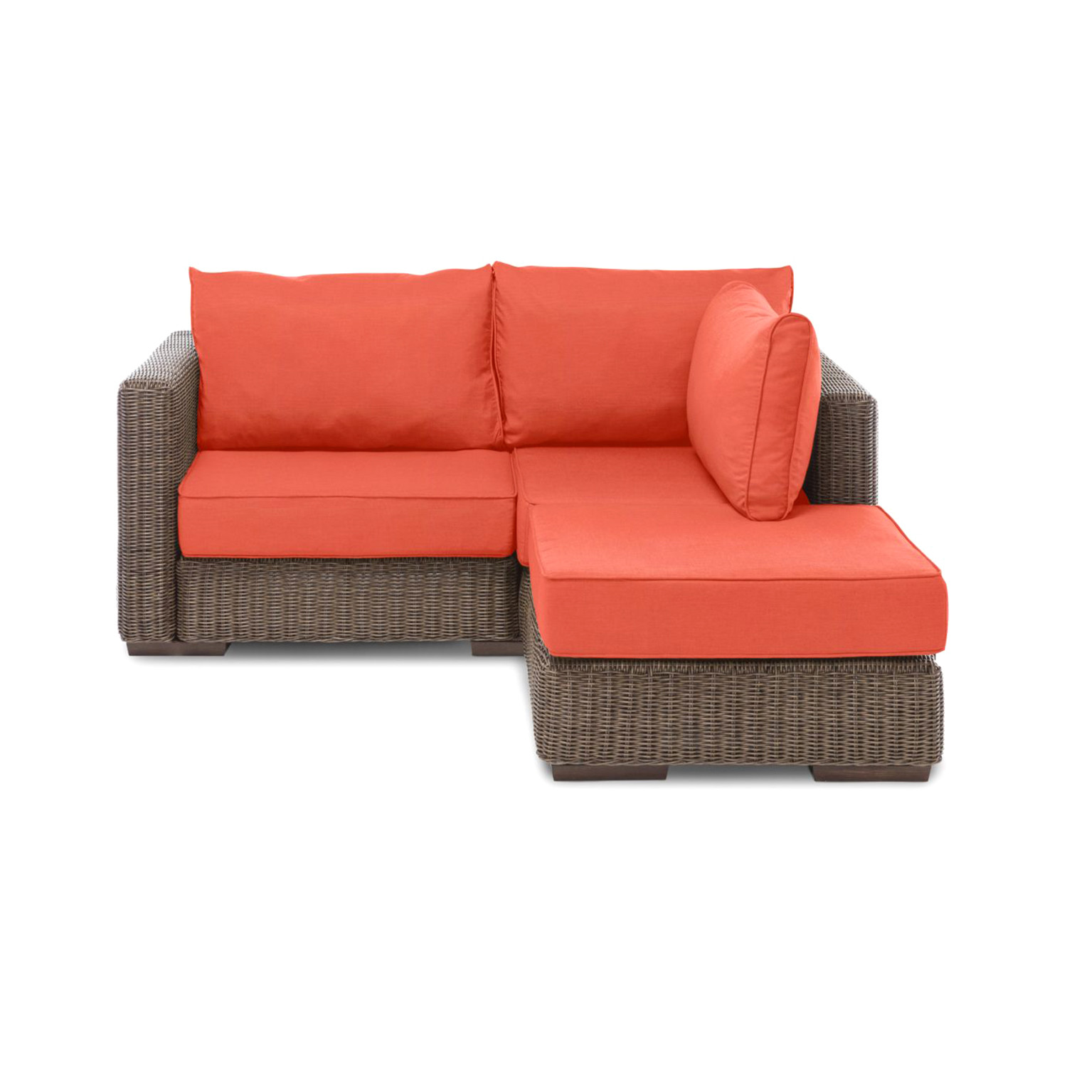 color loveseats the park wicker your custom included lounge b furniture patio hampton white outdoors loveseat own bay small cushions meadows outdoor with compressed choose n