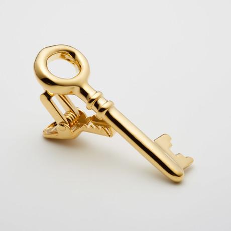Gold Key Tie Clip