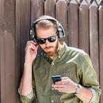Hinge Wireless On-Ear Headphones (Black)